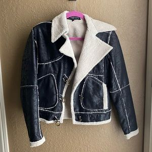 Alvin Valley Faux Crushed Leather Jacket